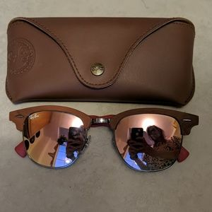Ray-Ban wooden clubmaster sunglasses